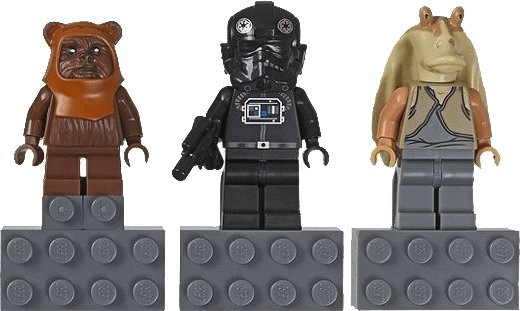 LEGO Star Magnet Set: Jar Binks V-Wing Pilot un...