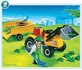 Playmobil Gärtnerei Gartentraktor mit Anhänger ...