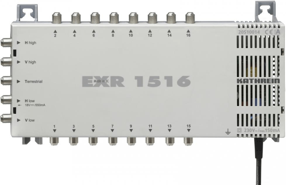EXR 1516 tV set-top boxes Gris, Interruptor múltiple