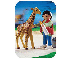 Playmobil Zoo Baby Giraffe with Zookeeper (3253)
