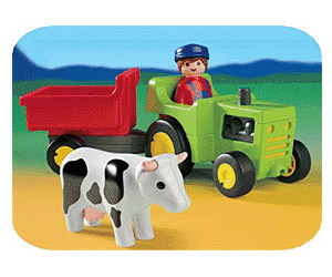 Playmobil 1.2.3 - Farmer with Tractor (6715)