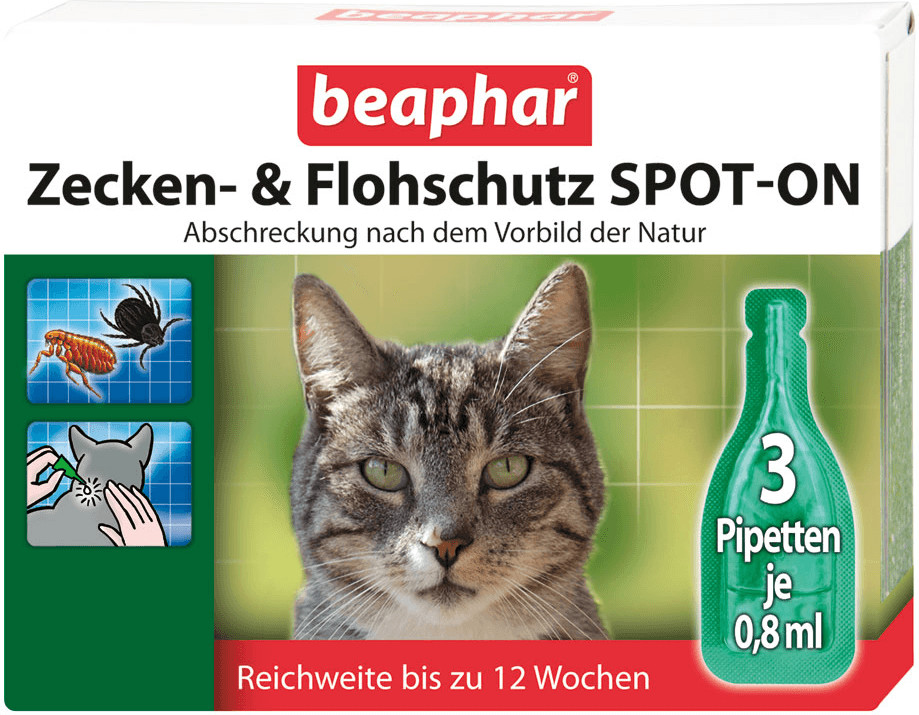Beaphar Zecken- & Flohschutz Spot-On für Katzen...