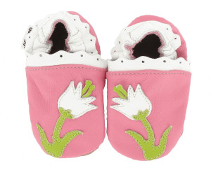 8e60a19f20cc1 HOBEA-Germany Krabbelschuhe Blume Pink ab 24