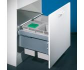 NABER Cox® Box 275 S//600-2 Abfallsammler 2x 16 L hellgrau