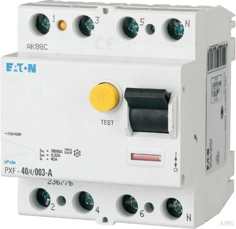 Eaton Fehlerstromschutzschalter PXF-25/4/03-A