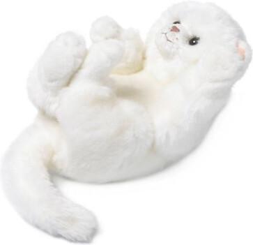 Mimex Lifelike - Katze weiß spielend 23 cm