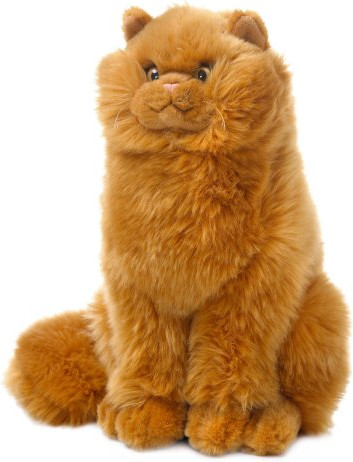 Mimex Lifelike - Katze rotbraun sitzend 29 cm