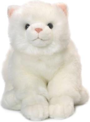 Mimex Lifelike - Katze weiß sitzend 33 cm