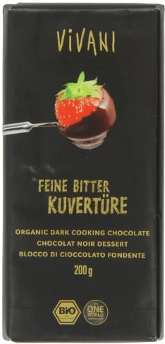 Vivani Feine Bitter Kuvertüre (200 g)