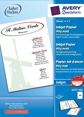 Avery Zweckform Classic Inkjet Papier, A4, 90g/qm (2577-150)