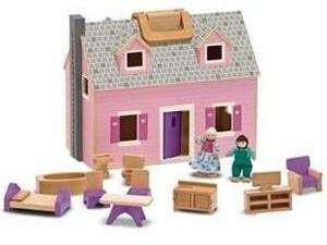 Melissa & Doug Fold & Go Mini Puppenhaus