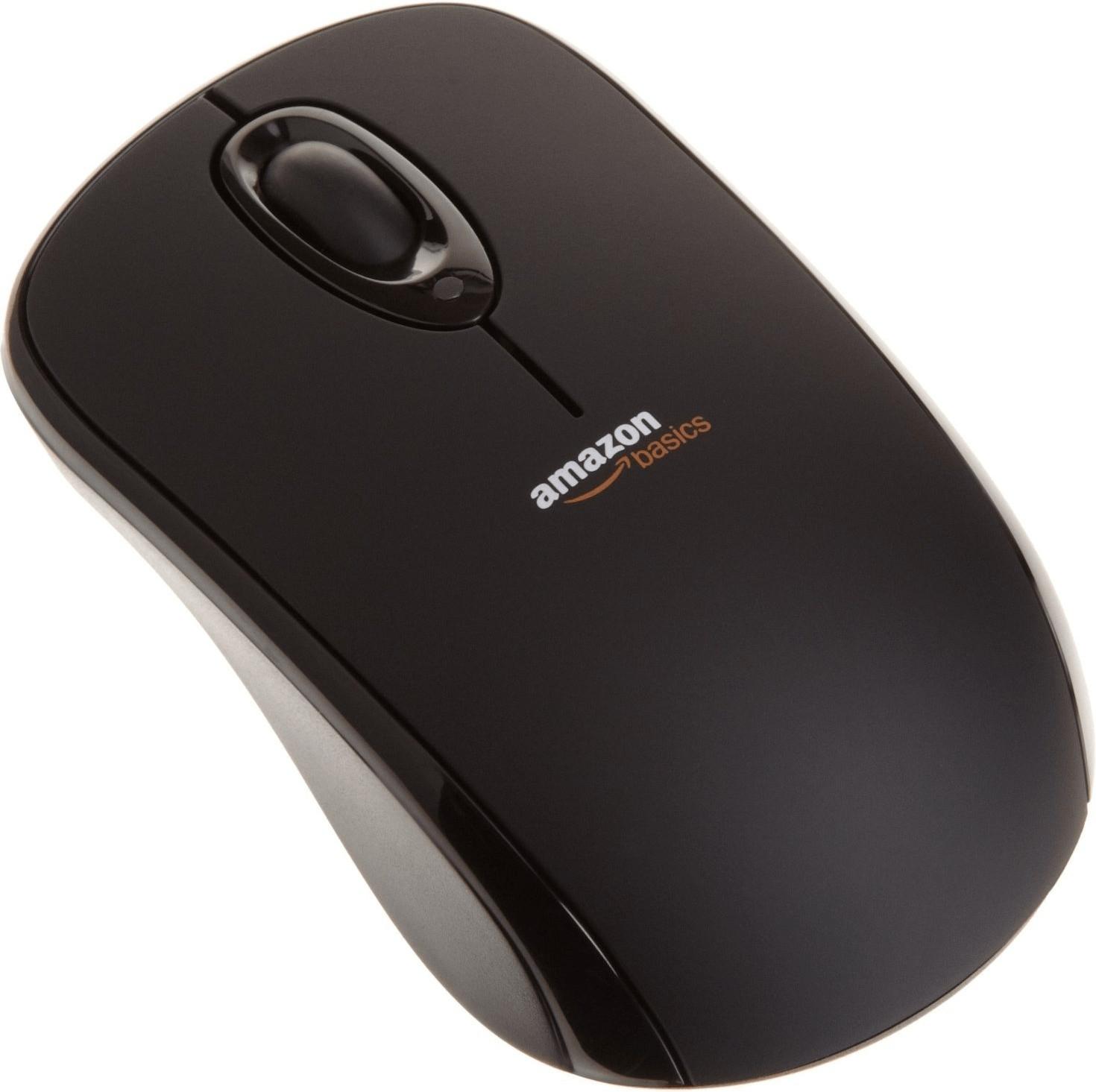 Image of AmazonBasics Wireless Mouse with Nano Receiver Black