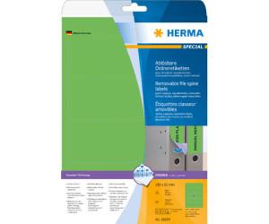 61 x 192 mm HERMA Rückenschild breit // kurz grün selbstklebend
