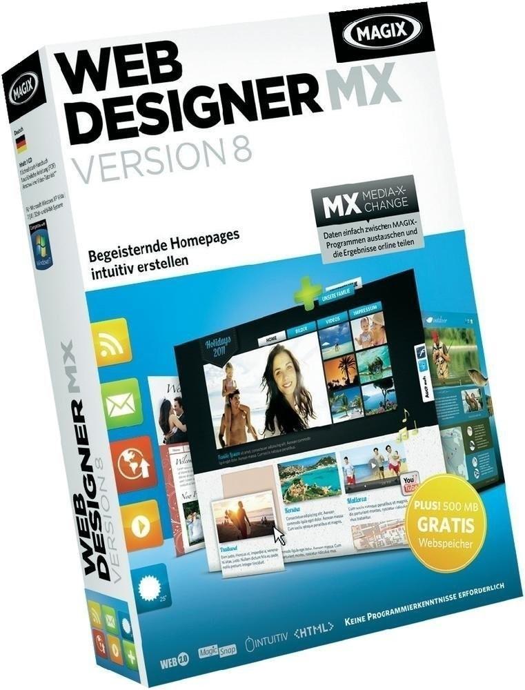 Magix Web Designer MX 8 (DE) (Win) (Box)