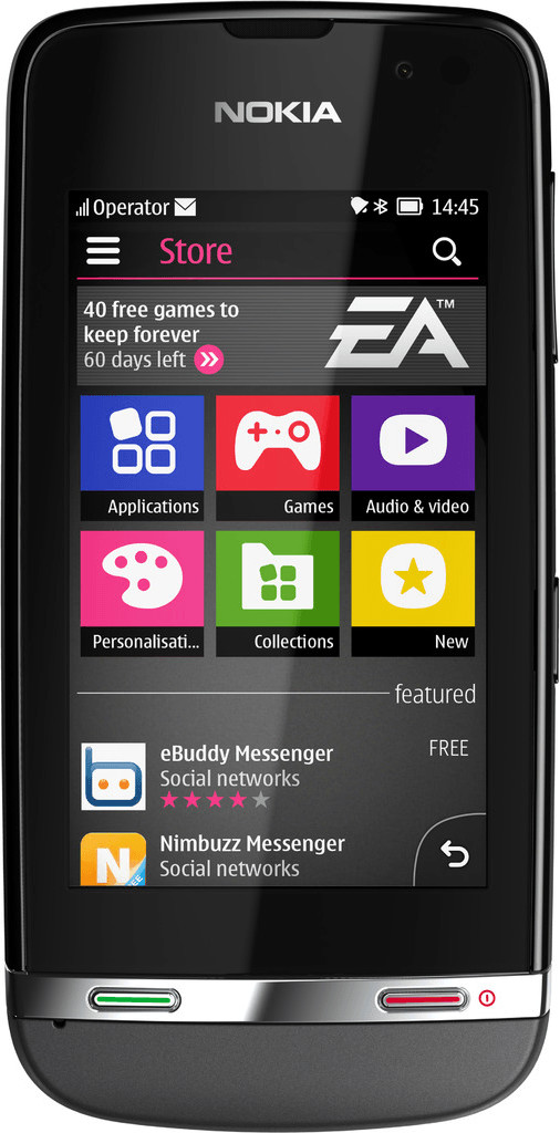 Nokia Asha 311 Grau
