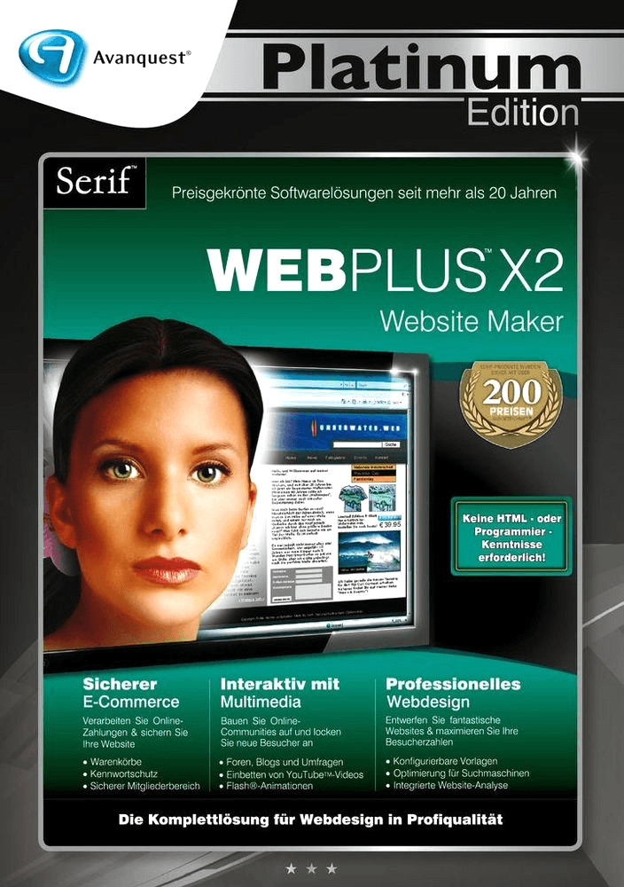 Avanquest Serif WebPlus X2 Website Maker Platin...