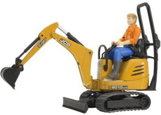 Bruder JCB Mikrobagger 8020 CTS und Bauarbeiter (62002)