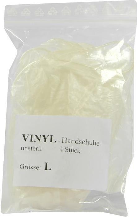 A-1 Dental Handschuhe Einmal Vinyl Unsteril Gr. L (4 Stk.)