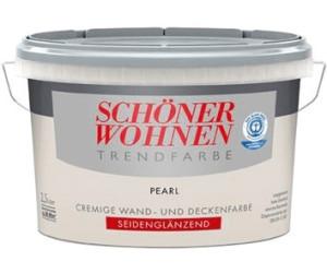 Schöner Wohnen Trendfarbe seidenglänzend 2,5 l Pearl ab 23 ...