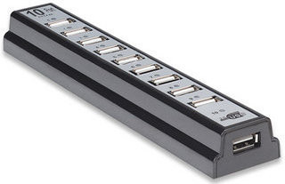 Image of Manhattan 10-Port USB 2.0 Hub