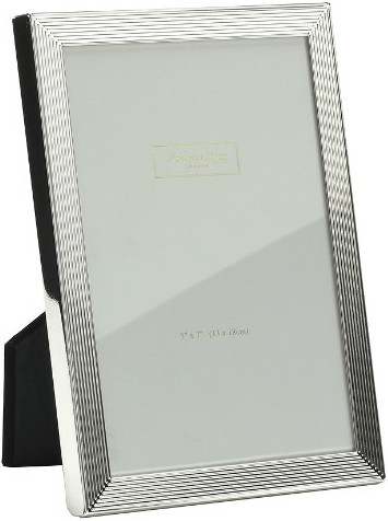 Image of Addison Ross Silver-plated Picture Frame with groove pattern 12x17