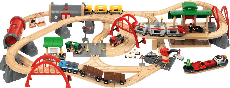 Brio Straßen & Schienen Bahn Set Deluxe (33052)
