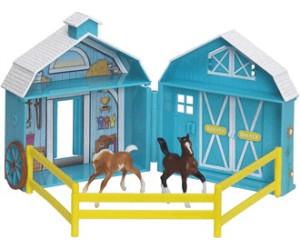 Image of Breyer Stablemates Frolicking Foals Pocket Barn
