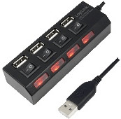 Image of LogiLink 4 Port USB 2.0 Hub (UA0128)