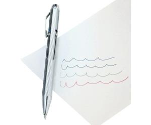 Vierfarb-Kugelschreiber aus Metall mit Schiebemechanik Vierfarbenkugelschreiber