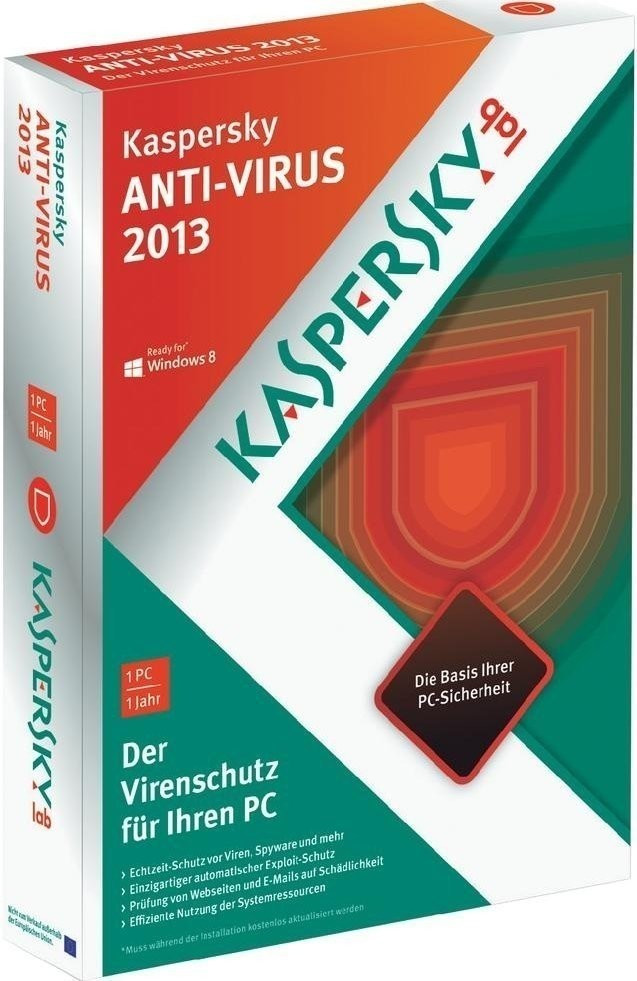 Image of Kaspersky Antivirus 2013 (1 User) (1 Year)