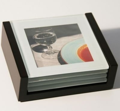 Euratio Foto-Glasuntersetzer 4 Stück