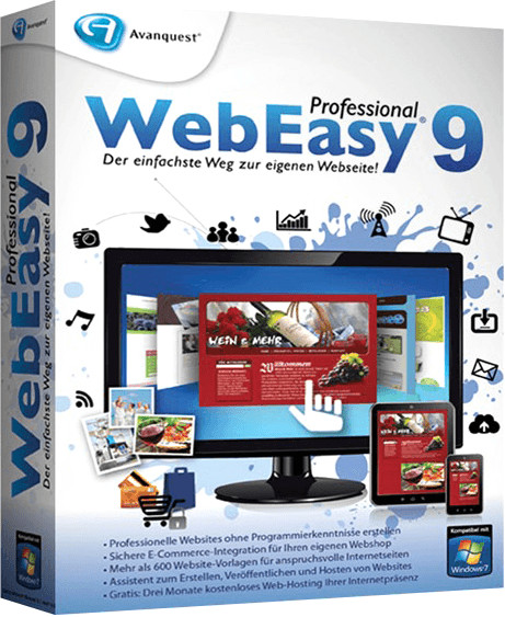 Avanquest WebEasy 9 Professional (DE) (Win) (Box)