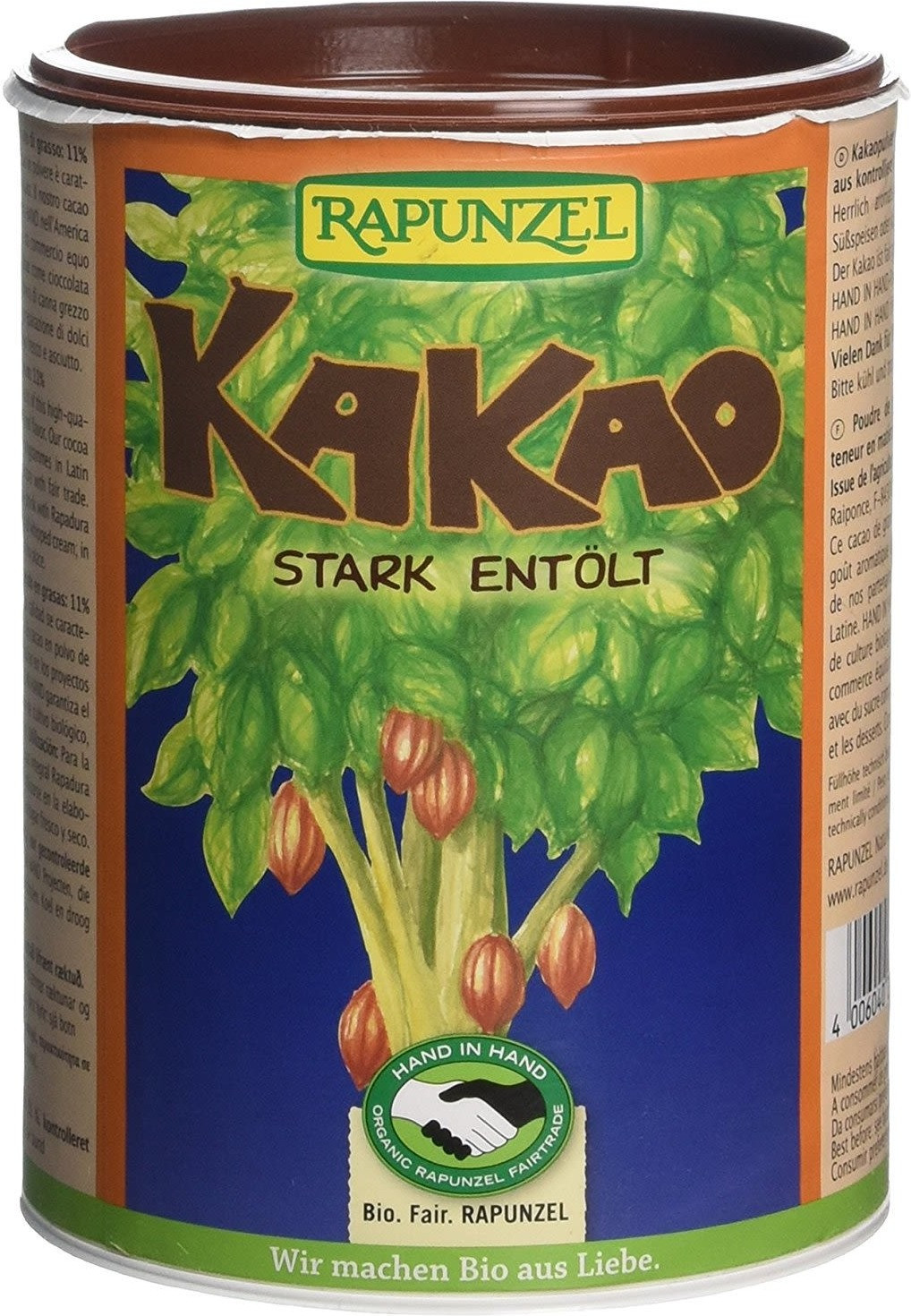 Rapunzel Kakaopulver stark entölt (250 g)