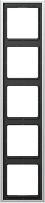 Jung Rahmen 5fach, alu (AL2985)