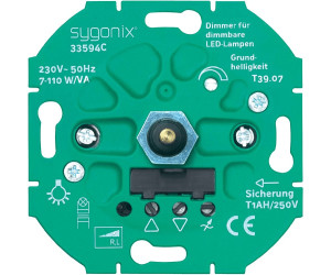 Sygonix dimmer für dimmbare led lampen 33594c ab 29 99