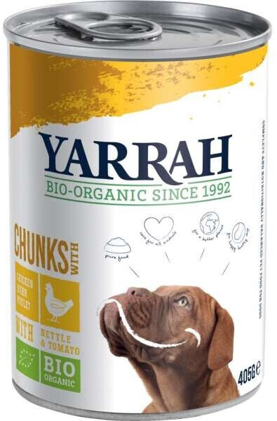 Yarrah Bio-Hundefutter Bröckchen mit Huhn 820g