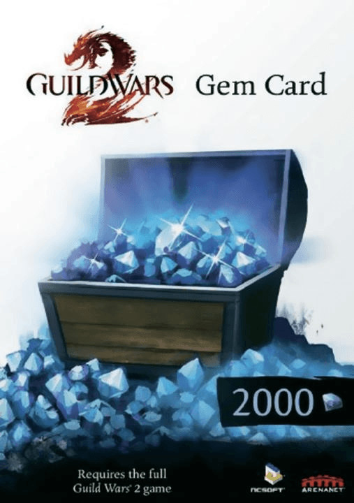 NCsoft Guild Wars 2 Gem Card