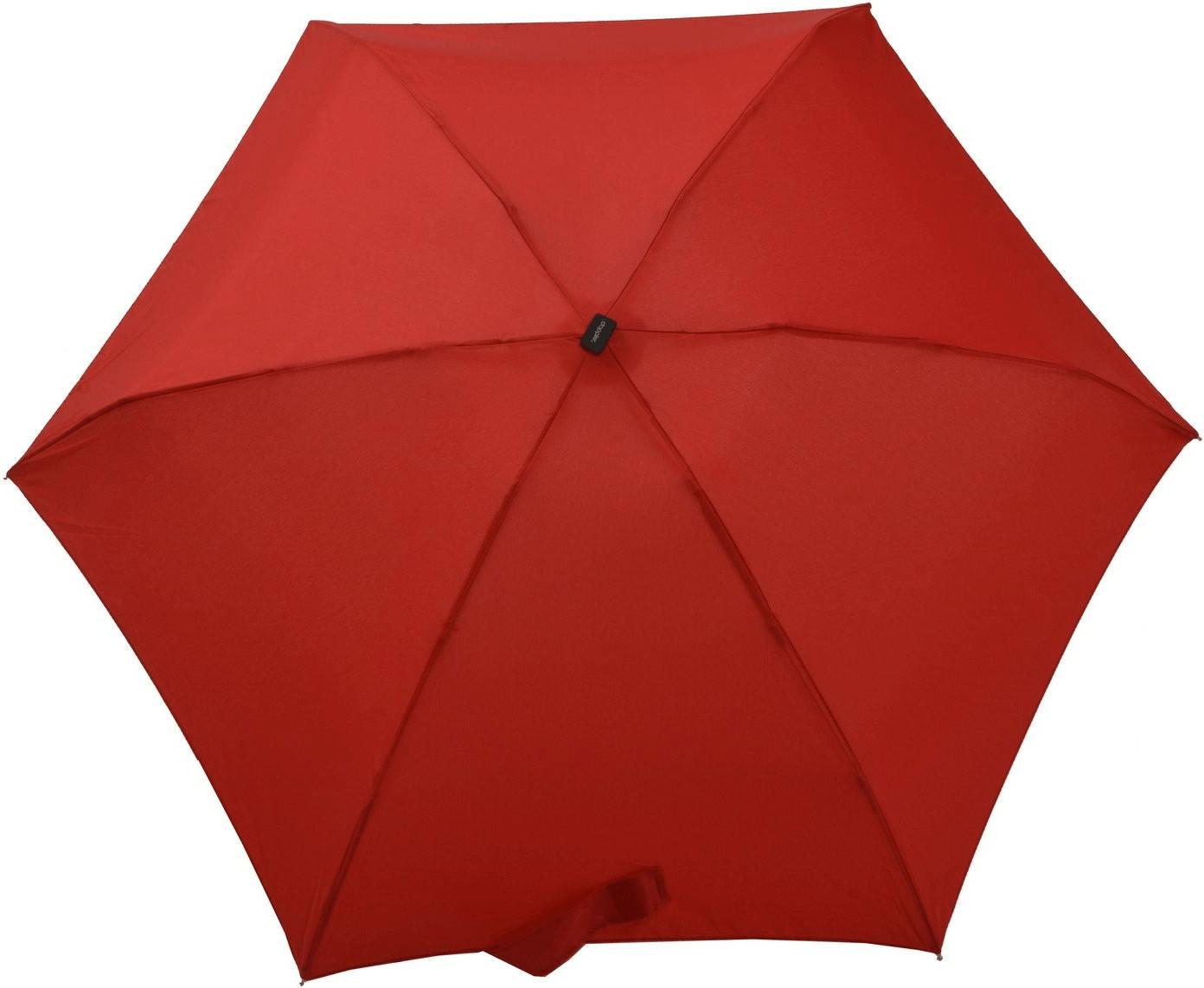 Doppler Handy Regenschirm rot