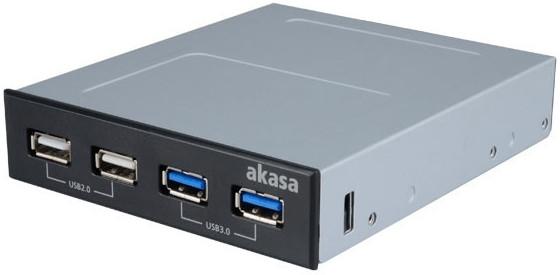 Image of Akasa 4 Port USB Frontpanel (AK-ICR-12V3)