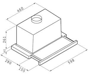 flachschirmhaube turbo 60. Black Bedroom Furniture Sets. Home Design Ideas