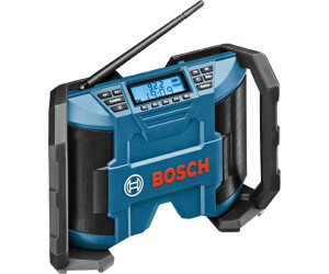 click/&go AUX-IN Bosch Professional 0615990GM8 GPB 12 V 10 Radio de chantier fonctionnement sur alimentation FM//AM et MP3 sans batterie 12 V L-BOXX 3, 5 mm, c/âble inclus