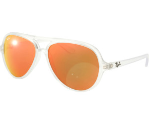 c6bbaea57d ... Sunglasses in Matte Transparent Orange Mirror RB4125 646 69 59 Ray-Ban  Cats 5000 RB4125 ...