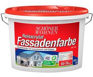 sch ner wohnen reinacrylat fassadenfarbe 10 liter verschiedene farben ab 51 26. Black Bedroom Furniture Sets. Home Design Ideas