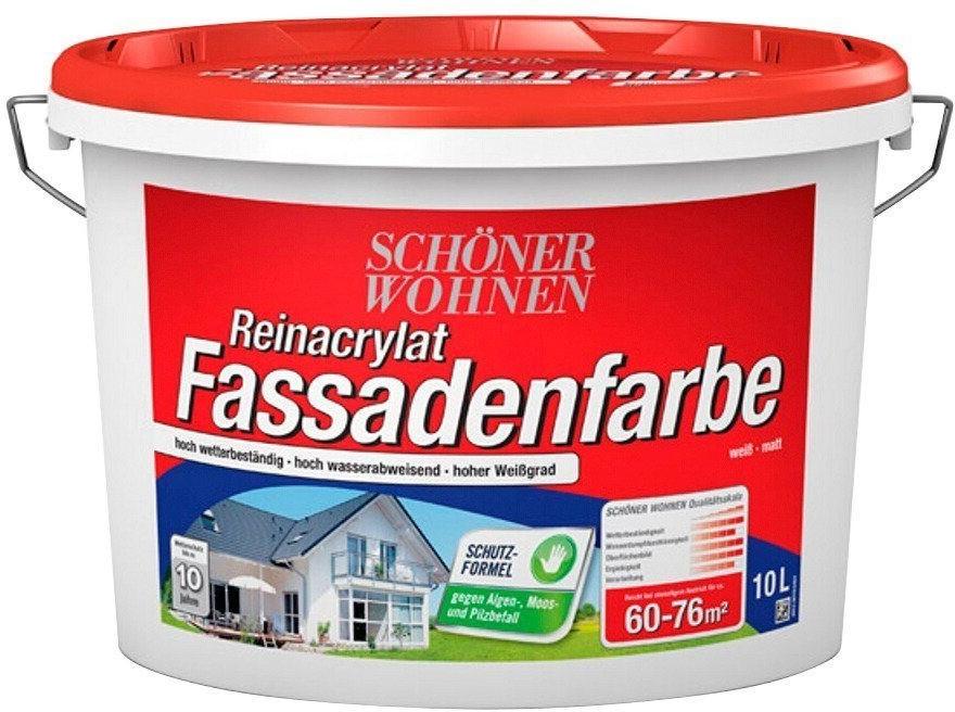 Schöner Wohnen Reinacrylat Fassadenfarbe 10 Liter