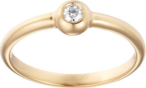 Miore Gelbgoldring mit 1 Diamant (M0615Y)