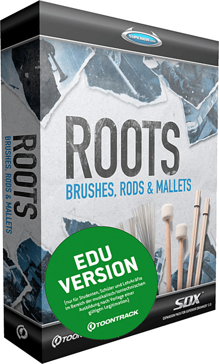Toontrack SDX Roots: Brushes, Rods & Mallets (EDU)