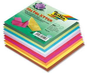10 Farben 20x20 cm 100 Stück Faltblätter