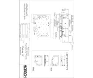 Hoesch largo asymmetrische badewanne 180 x 130 cm 3694 for Asymmetrische badewanne 170