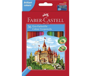 FABER CASTELL Hexagonal Buntstifte Castle Eco Malstifte Stifte Set Etui Malen