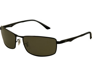 9fb9dc1549 Buy Ray-Ban RB3498 002 9A (black polarized green) from £102.00 ...